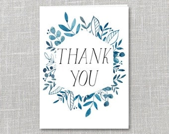 Thank You Notecard Printable Instant Download PDF