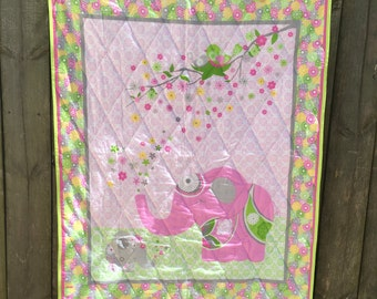 Ellie the Elephant Baby Quilt FREE SHIPPING