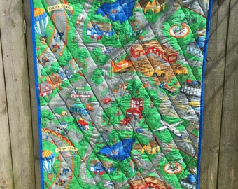 It's My Town Child's Quilt or Play Mat FREE SHIPPING