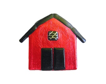 Red Barn Pin, Farm Jewelry, Farm Pin, Barn Jewelry