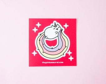 Caticorn • Kiss Cut Vinyl Sticker