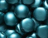 "2-Hole Czech Glass ""Candy"" Bead Zircon Pastel Pearl 8mm  25 beads"