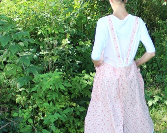 SAMPLE SALE, Size Small No Ties Apron in Pink Floral