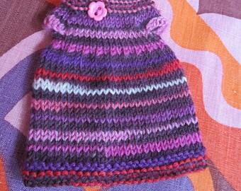 Odds & Ends SALE - Blythe:  Purple stripe smock dress with flower button