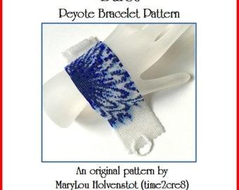 Peyote Bracelet Pattern ... BURST ... Jewelry Cuff Instruction PDF Tutorial Modern Bold Design Beadweaving Pattern Beaded Jewellery Pattern