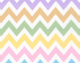 ON SALE - 10% Off Robert Kaufman Remix Zig Zag Spring Chevron Quilting Apparel Fabric BTY