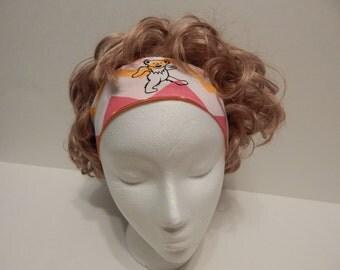Fabric Reversible Headband, Grateful Dead Headband,  Elastic Back Hair band, Head Band, hippie, boho chic, hippie clothes, OOAK headband