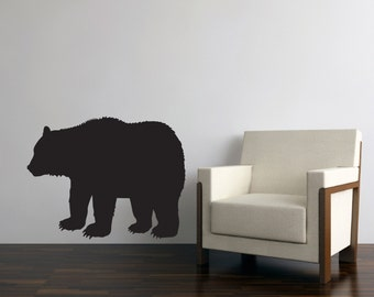 """Black Bear Wall Decal - 36""""w x 28""""h - Available in Various Colors"""