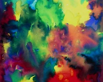 I LOVE this painting I Feel Colorful Abstract Watercolor Art Original Painting by Artist Debra Alouise