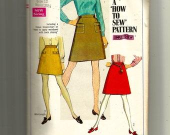 Simplicity Juniors' /Teens' Skirt In Two Lengths Pattern 7779