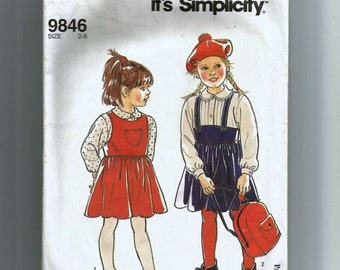 Simplicity Child's and Girls' Jumper Pattern 9846