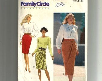 Butterick Misses' Skirt With and Without Mock Wrap Front Pattern 5056