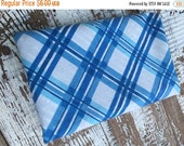 40% FLASH SALE- Blue Plaid- Vintage Retro Pillowcase -Standard