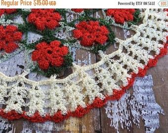 30% OFF SUPER SALE- Vintage Christmas Embroidery-Needlework Pieces-Flea Market Chic