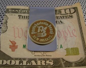 Vintage Authentic Pontchartrain Beach New Orleans Amusement Token Money Clip Man Gift, Wedding, Groomsman Gift, Fathers Day Gift