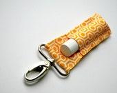 Yellow Honeycomb Chapstick Keychain, Lip Balm Holder
