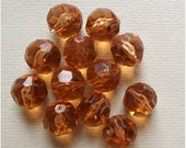 On Sale Vintage faceted pale peach beads