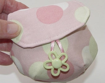 Small Bubble Pouch coin purse keeper of keys lip gloss jewelry
