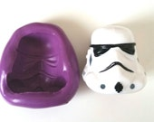 STORMTROOPER Face Silicone Mold Mould 35 mm - Star Wars Polymer Clay Sugar paste Fimo Resin Cake Decorating