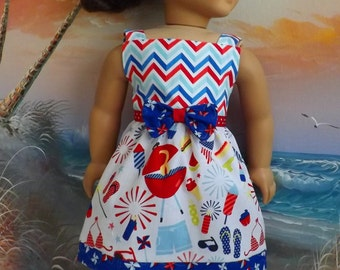 18 Inch Doll Clothes Riley Blake Medley Summer Cookout Medley Gently Gathered Will Fit American Girl