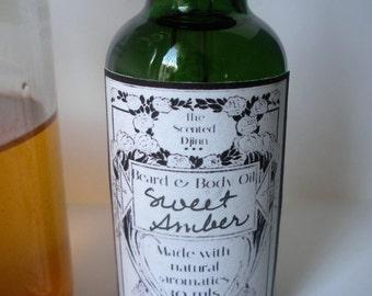 Sweet Amber Beard & Body Oil 30 mls