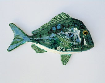 Long Nose Porgy ceramic fish art decoative wall hanging