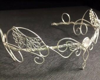 Butterfly Circlet, Butterfly Bridal Circlet, Butterfly Wedding Headpiece, OOAK Butterfly Wedding Circlet Handmade, Sterling Silver Artisan