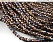 25% OFF Summer Sale 3mm Czech Beads -  Matte Bronze Vega Faceted 50 pcs (G 68)