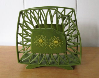 vintage green napkin holder
