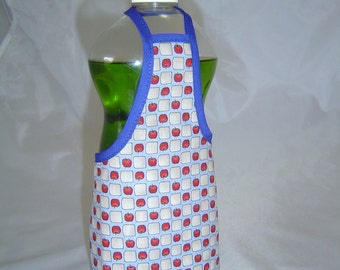 Tine Apple Country Decor Dish Soap Apron Bottle Cover Wrap Staffer Party Favor Lg
