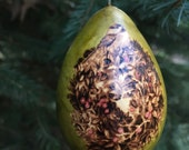 Chickadee Wreath Christmas Tree Ornament egg gourd