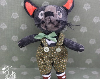 Tony the Tasmanian devil, cloth art doll