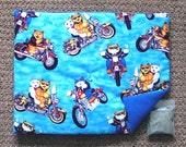 Catnip Mat and Catnip Cats on Motorcycles Refillable Reversible