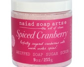 NEW - Spiced Cranberry Whipped Soap Sugar Scrub - Cruelty Free and Vegan