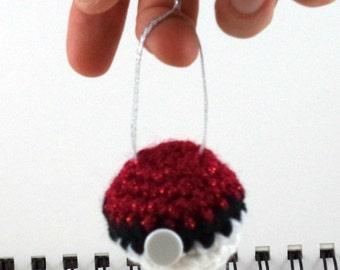 Crocheted Monster Catching Ball Ornament
