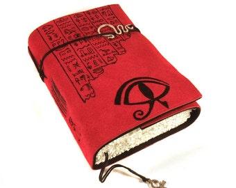 Leather Journal, handmade, Eye of Horus
