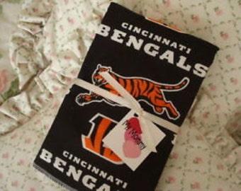 Boy Girl Boutique Burp Cloth made with Cincinnati Bengals NFL Football fabric