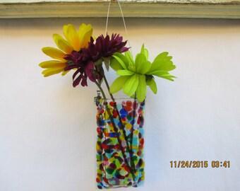 Rainbow Dots vase