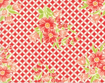 Handmade - Gwendolyn in Red: sku 55146-11 cotton quilting fabric by Bonnie and Camille for Moda Fabrics - 1 yard