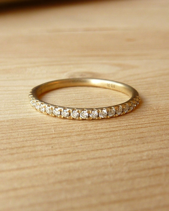 Half Eternity Round Diamond Band