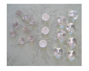 Collection of Sets of Vintage Clear Glass  Buttons