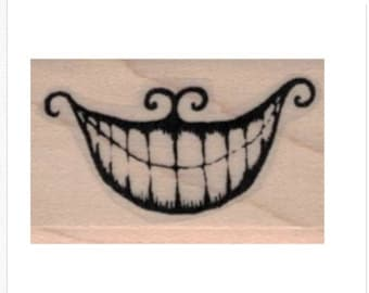 rubber stamp  alice in wonderland Cheshire cat smile   stamps no19904 scrapbooking supplies