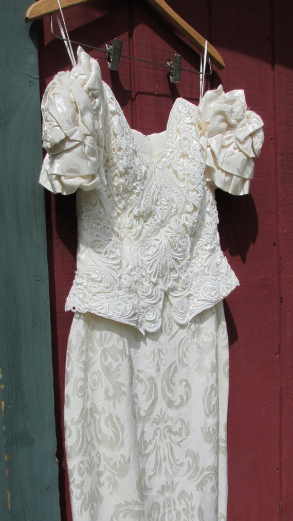 Vintage wedding dress jessica mcclintock by suzypoodlevintage for Jessica mcclintock wedding dresses outlet