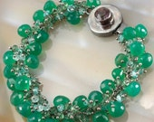 CLEARANCE - 40% OFF Green Onyx Blue & Green Apatite Charm Bracelet