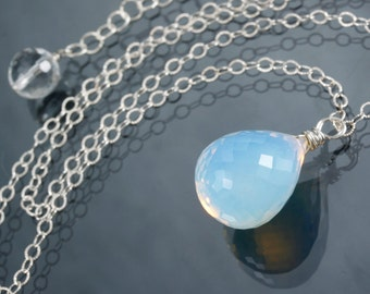 Opalite Sterling Silver Pendant Necklace