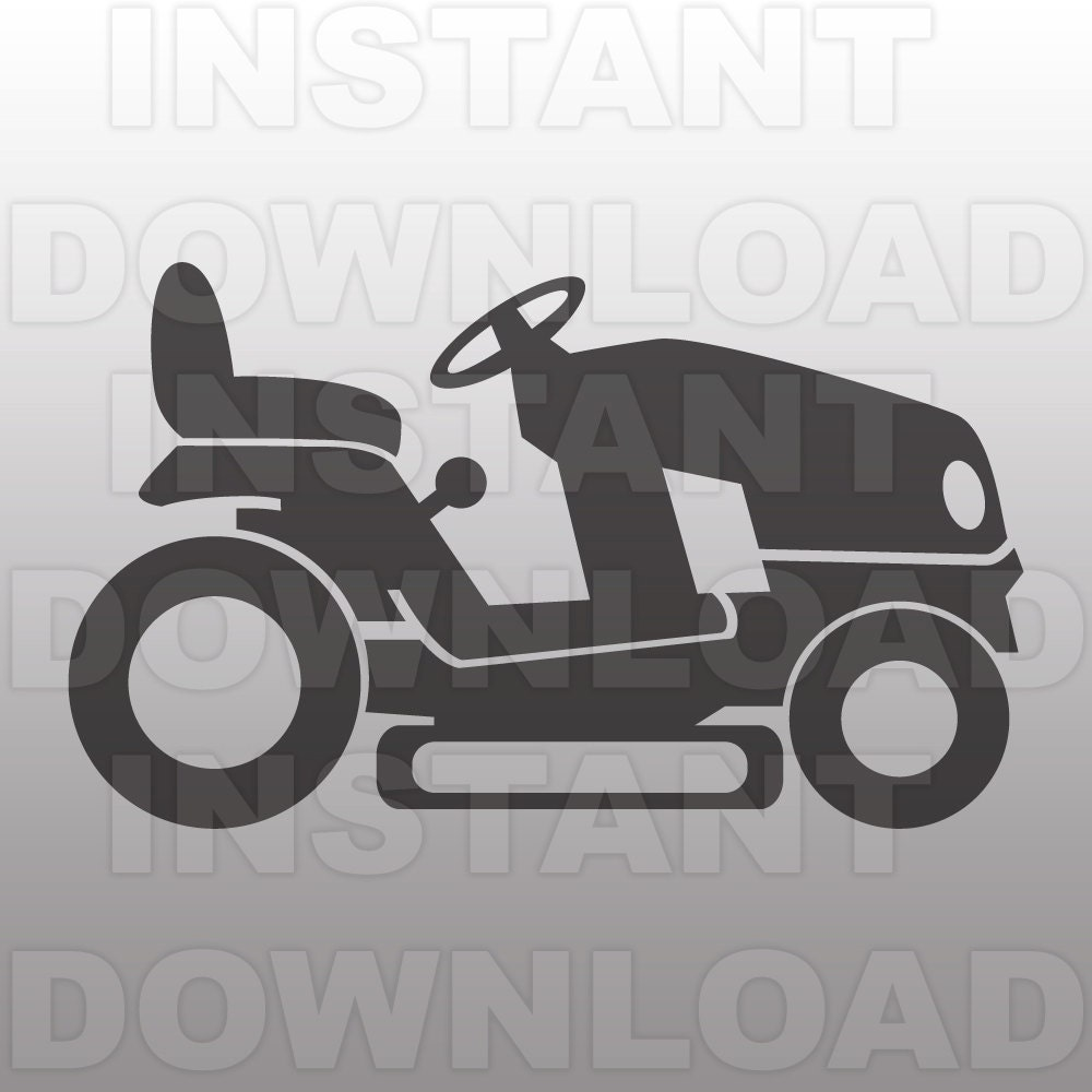 Riding Mower SVG FileLawn Mower SVGFathers Day SVG-Cutting