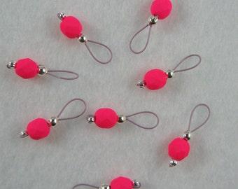 Knitting Stitch Markers - Neon Pink - US 5 - Item No. 978