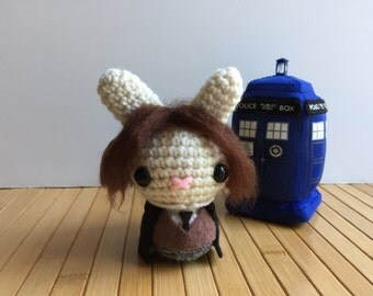 The Doctor Moon Bun - Eighth Doctor Amigurumi Bunny Rabbit - Paul McGann