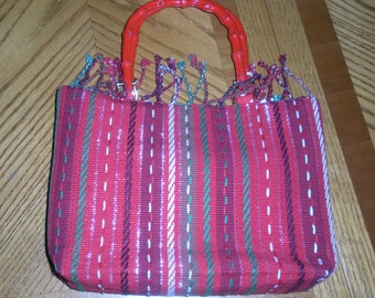 Christmas tapestry purse