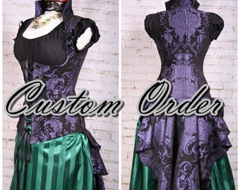 Custom Fit To You Peplum Tailed Vixen Corset